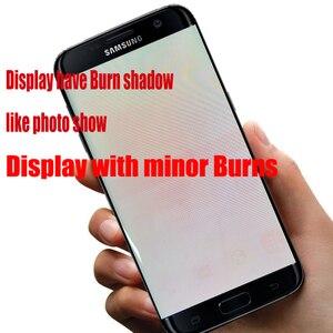 Image 4 - شاشة 5.5 بوصة مع شاشة LCD حرق الظل مع الإطار لسامسونج غالاكسي S7 حافة G935 G935F SM G935F مجموعة المحولات الرقمية لشاشة تعمل بلمس
