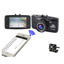2.7 inch fhd 1080p Cycle recording 170degrees wifi or Gps dual lens car dvr