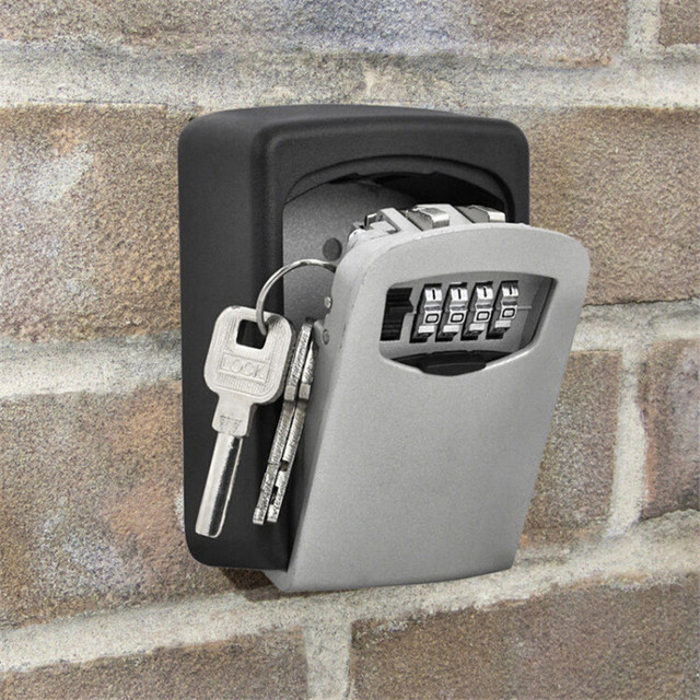 Outdoor security password key box padlock box decoration home wall - mounted company metal password storage box