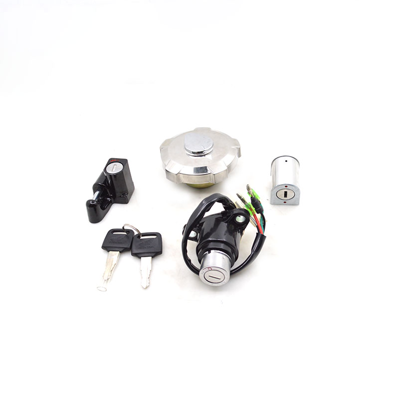 2088 Motorcycle Ignition Switch Lock+Fuel Gas Tank Cap Cover Lock Set For Honda WH125-3 CG125 WH CG 125 Spare Part 35010-KCS-V70 стоимость