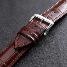 Men Women Watch Band 24mm 22mm 20mm 18mm Leather Watchband 16mm 14mm 12mm Wrist Watch Strap Watchbands Bracelet Metal Buckle недорого