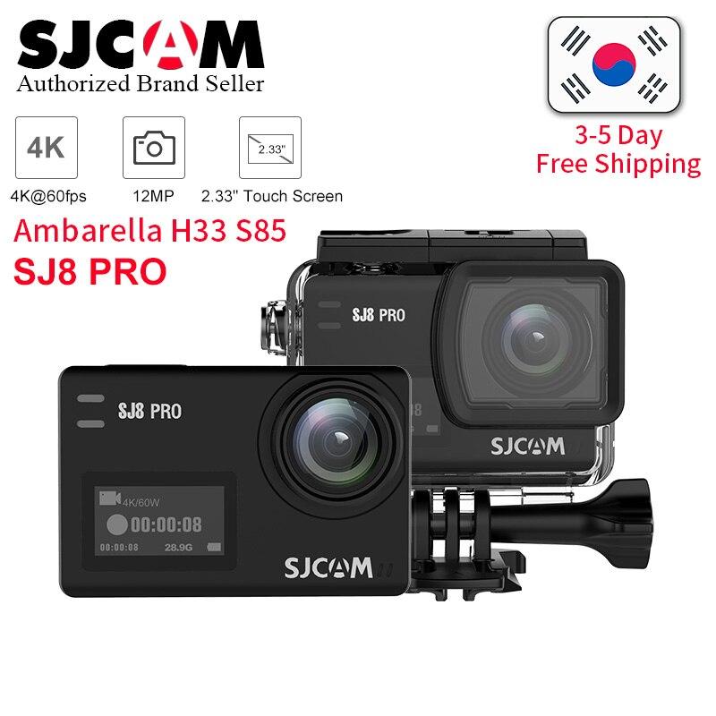 SJCAM SJ8 Pro yi 4 K 60fps caméra d'action étanche Anti-secousse double écran tactile 8 * Zoom numérique WiFi télécommande sport DV cam