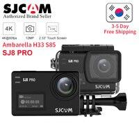 SJCAM SJ8 Pro yi 4 к 60fps Экшн камера водостойкая анти Шейк двойной сенсорный экран 8 * Цифровой зум WiFi Пульт дистанционного управления Спорт DV cam