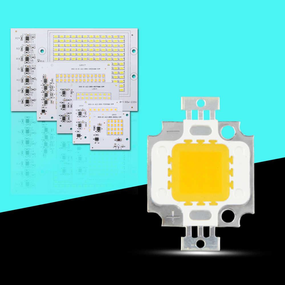 Smart IC LED Lamps Chip COB Led Bulb 10W 20W 30W 50W 90W 100W White Warm White For Outdoor FloodLight Lighting Halogen LED
