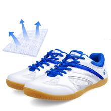 Купить с кэшбэком Table tennis shoes men, 2018 fall new style breathable leather mesh sneakers, lightweight antiskid training  sports shoes women
