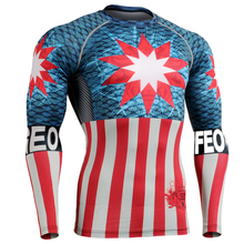 Muscle Men Compression Tight T-shirt Long Sleeves 3D Full Prints MMA Fitness Base Layer Weight Lifting Wear Tops Dry Quick T-