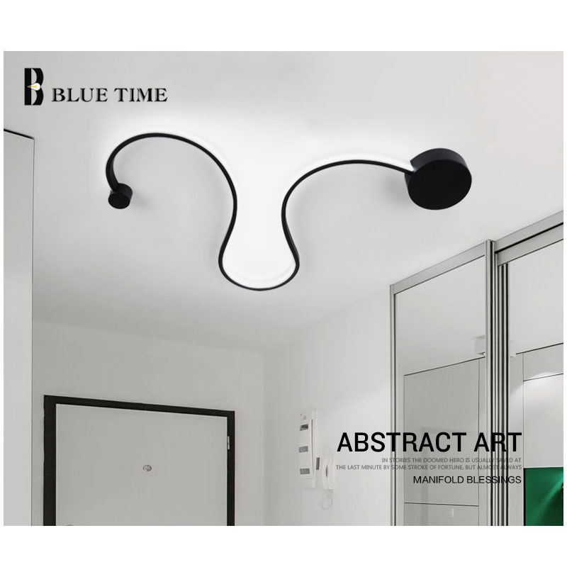 ФОТО Minimalist creative modern wall Lights black/white color wall lamp for bedroom aisle corridor hotel Bathroom mirror front light