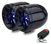 12V Motorcycle Radio Stereo System Alarm Audio MP3 Player Motorcycle Speaker TF Card USB FM Audio