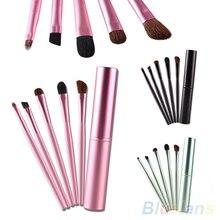 5 PCS Pro Makeup Eyeshadow Brushes Set Cosmetic Tools Metal Holder 1L2H 2SKH