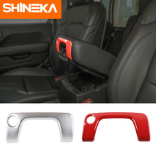 SHINEKA Interior Mouldings For Jeep Wrangler JL 2018+ Car ABS Armrest Box Keyhole Decoration Cover Stickers For Jeep Wrangler JL citall fit for jeep wrangler jl 2018 2019 abs interior copilot seat front grab handle bar trim cover strip mouldings decoration