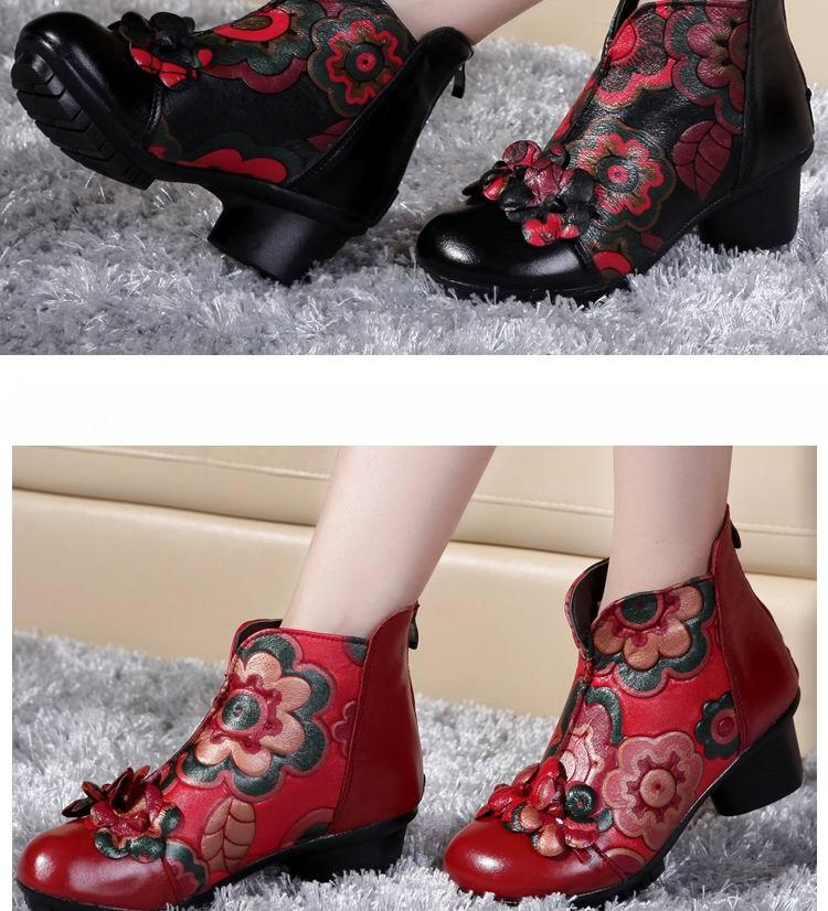 Femmes Moto Cheville Bottes Automne Hiver Casual Chaussures Pour Femmes Vintage@hyu-575 K7rWXK