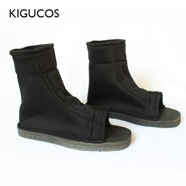 KIGUCOS Naruto Cosplay ayakkabı Akatsuki kostümleri ayakkabı Konohagakure hiçbir Sato Ninja botları Haruno Sakura sandalet yumuşak Zapatos 2 renk