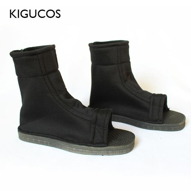 Kigucos naruto cosplay sapatos akatsuki trajes sapatos konohagakure nenhum sato ninja botas haruno sakura sandálias macio zapatos 2 cor