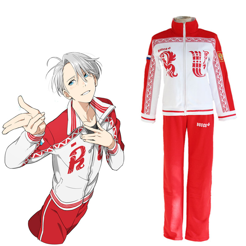 Yuri on Ice Viktor Nikiforov Cosplay Costume Japanese Anime Uniform School Uniform Tracksuit for Men 89