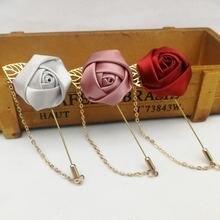 Золотая цепочка цветок нагрудный знак брошь модный дизайн ручная