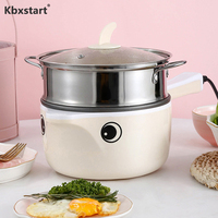 Kbxstart 220V Multifunctional Electric Cooking Pot Machine Single/Double Layer Mini Rice Cooker Stewing Steamed Pot Multi Cooker