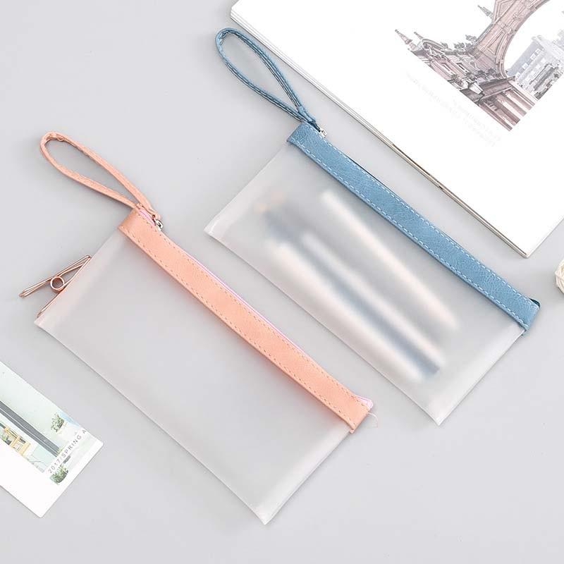NIBESSER átlátszó táska Női pénztárca hordozható toll ceruza táska ... efde731802