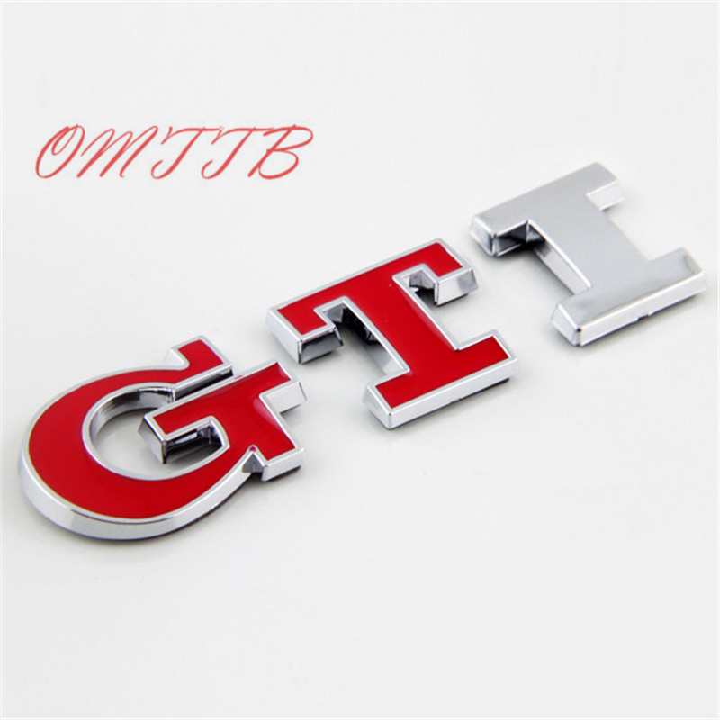 GTI Emblem Car Auto Badge Emblem car Sticker For Volkswagen vw Golf 5 6 7 MK6 MK7 Polo Beetle Touran Passat CC Car Styling atreus 30cmx127cm carbon fiber car styling stickers for vw polo passat b7 b8 golf 7 5 6 mk4 touran bora t4 skoda octavia a5 a7 2