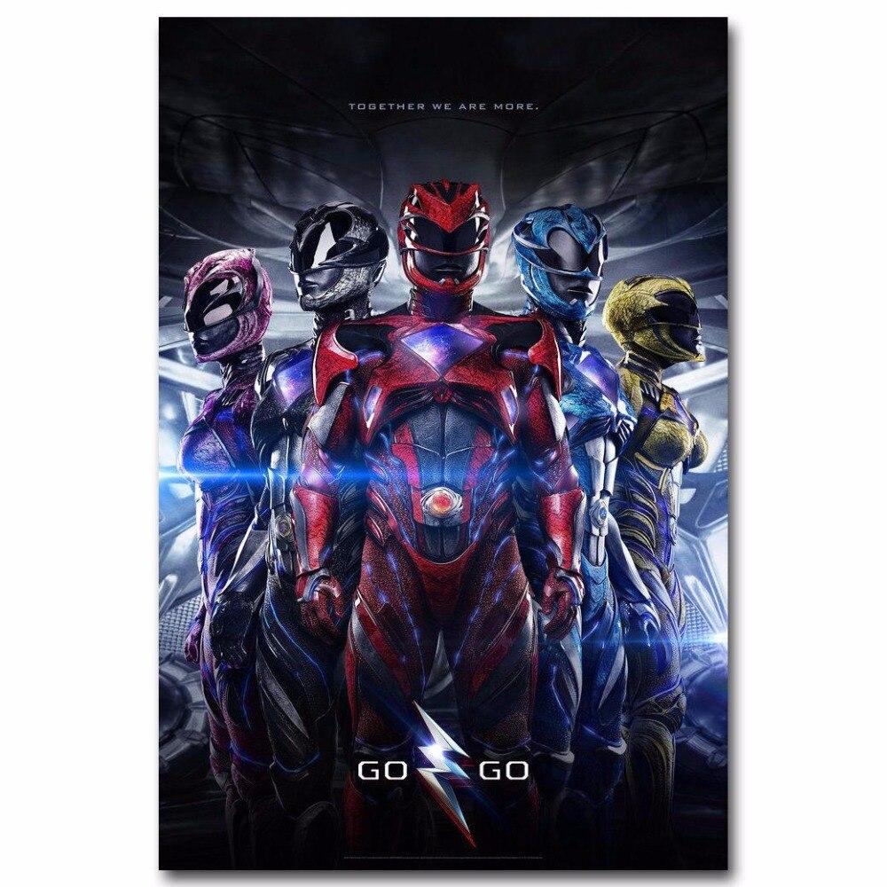 1743a Power Rangers New Movie Wall Sticker Silk Poster Light Canvas