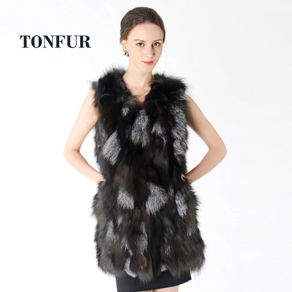 Vente Usine Fourrure Gilet Renard Long Chaude Nt625 Femmes Top De Naturel Nouvelle Réel a4RAq0WA