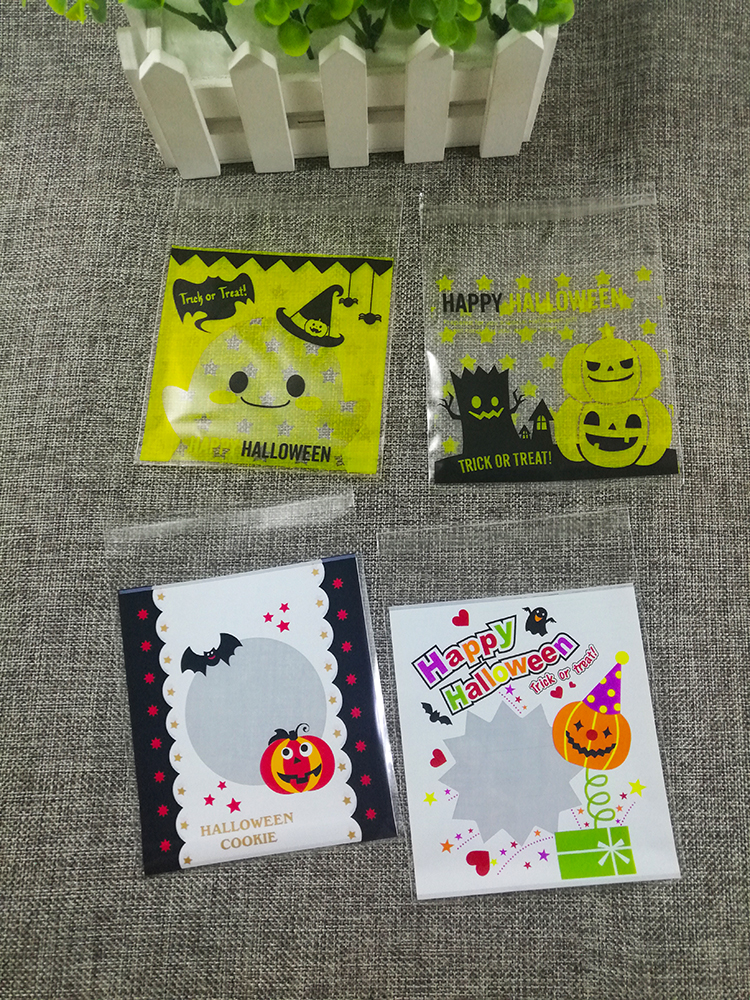 Packaging-Bags Wedding-Cookie Christmas-Gift Candy 10cm Halloween Party Small 100pcs