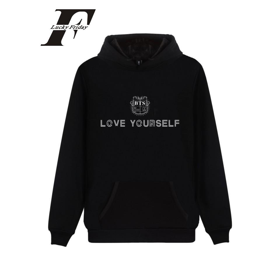 LUCKYFRIDAYF BTS LOVE YOURSELF Fashion Design Sweatshirt Hoodie New Album Streetwear Kpop Camouflage Unisex Warm Thick Cotton