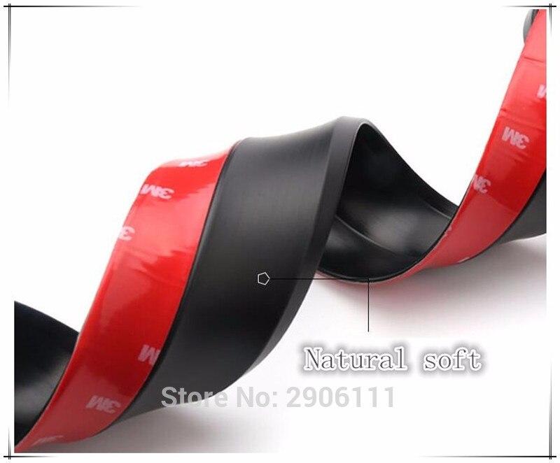 2.5 M/8.2ft Universel De Voiture Autocollant Lèvres Jupe Protecteur pour Mini cooper jcw clubman countryman cabrio coupé accessoires de voiture-style