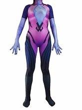 Widowmaker Costume Custom Made Widowmaker Cosplay Suit Lycra Spandex Female/Women/Girls Bodysuit 3D Print Lady Zentai Catsuit