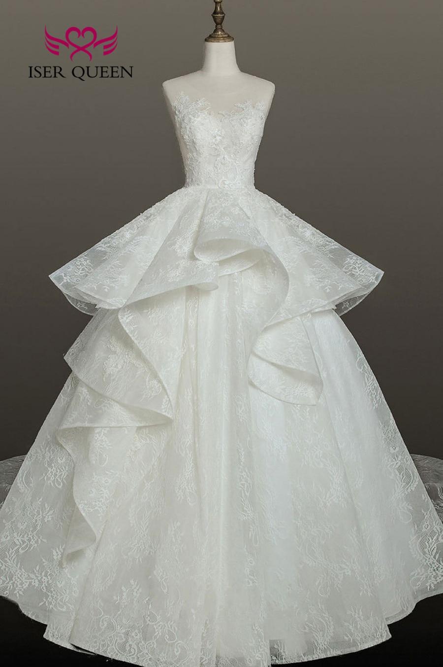 Weddings & Events Good 2019 New Arrival Beautiful Ball Gown Lace Wedding Dress Organza Dubai Wedding Gown Bride Dress Vestido De Noiva Wx0159 Attractive And Durable