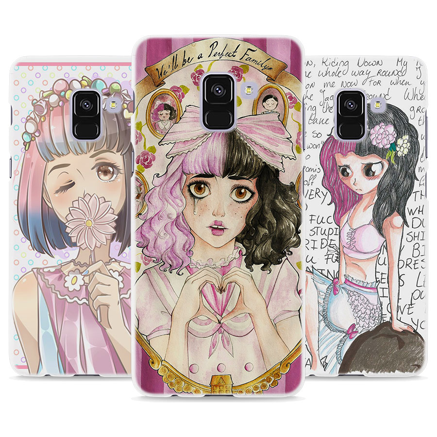 BiNFUL Melanie Martinez Cry Baby design hard White Phone Case for Samsung A8 2018 A510 A530 A720 A7 2017 A310 S8 S9