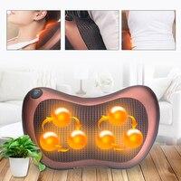 8/6/4 Heads Back Massage Cushion Shiatsu Massager Waist Body Cervical Pillow Home Car Electric Shiatsu Massager Back Massage