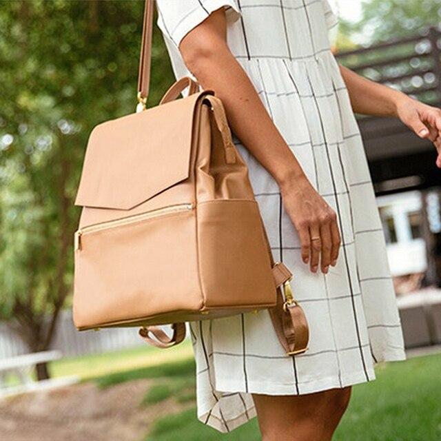 Сумка для детских подгузников из искусственной кожи, рюкзак большой емкости, рюкзак для подгузников, дорожная сумка для мам, сумка для детских колясок