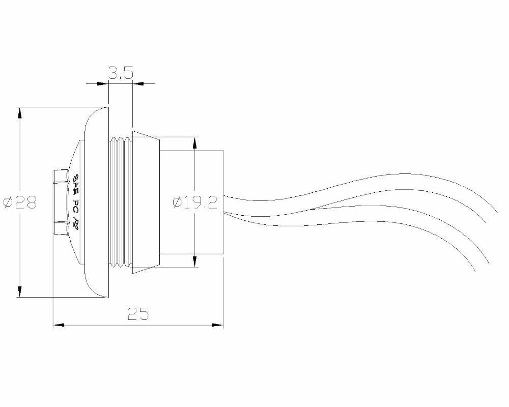 10pcs / Lot 10-20V 0,75 inčni LED prikolica Mala marker svjetla / - Svjetla automobila - Foto 4