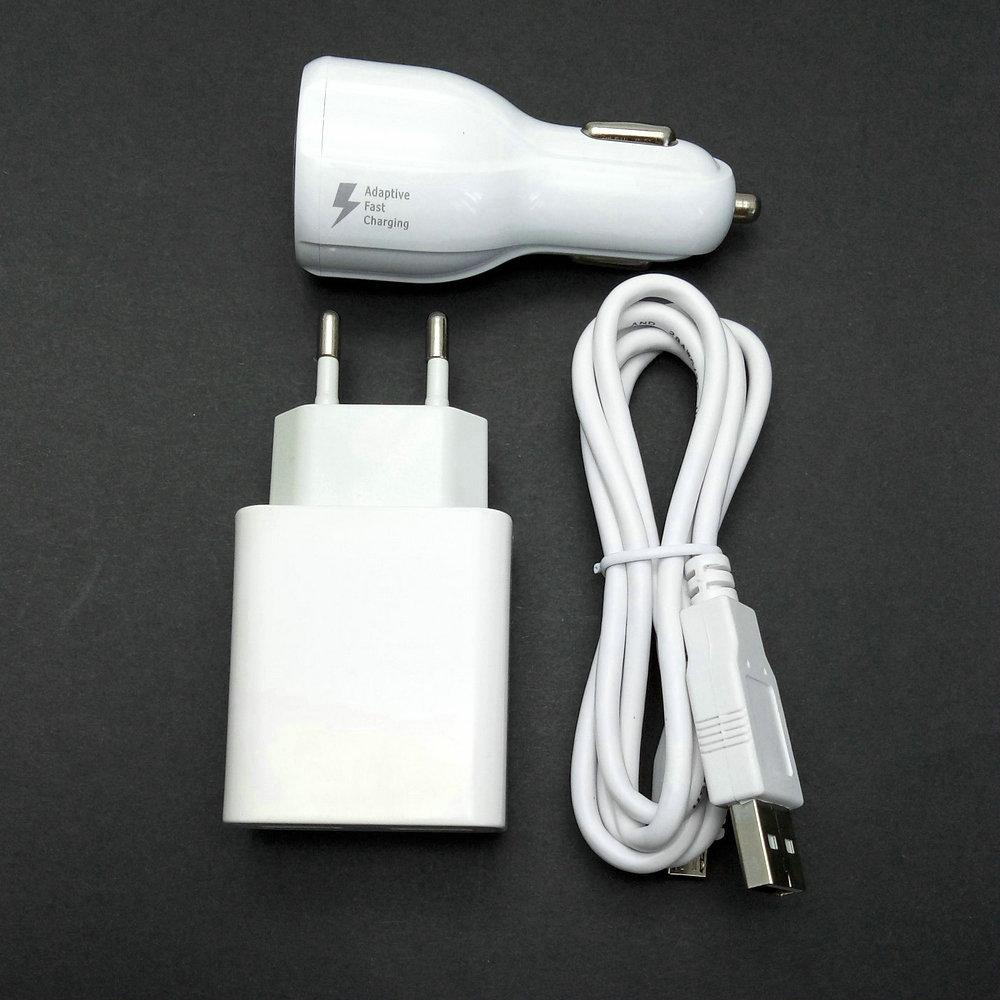 2.4A Mur Voyage Adaptateur 2 USB sortie + Micro USB Câble + chargeur de voiture Pour Ulefone être tactile/être tactile 3/paris/puissance/être pro