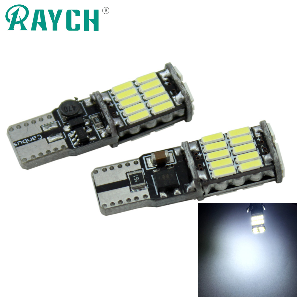 4x T10 POWERFUL LED 24 4014 SMD WHITE W5W 501 SIDE LIGHT BULB ERROR FREE CANBUS