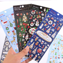 20 pcs Kawaii Papelaria Adesivos Feliz Natal Ouro Planejador Diário Adesivos Decorativos Mobile Scrapbooking DIY Artesanato Adesivos