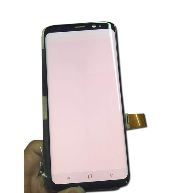 US $71 5 |Display for S8 LCD +Frame Replacement for SAMSUNG Galaxy S8 G950  G950F Display S8 Plus G955 G955F Touch Screen Red Burn Shadow-in Mobile