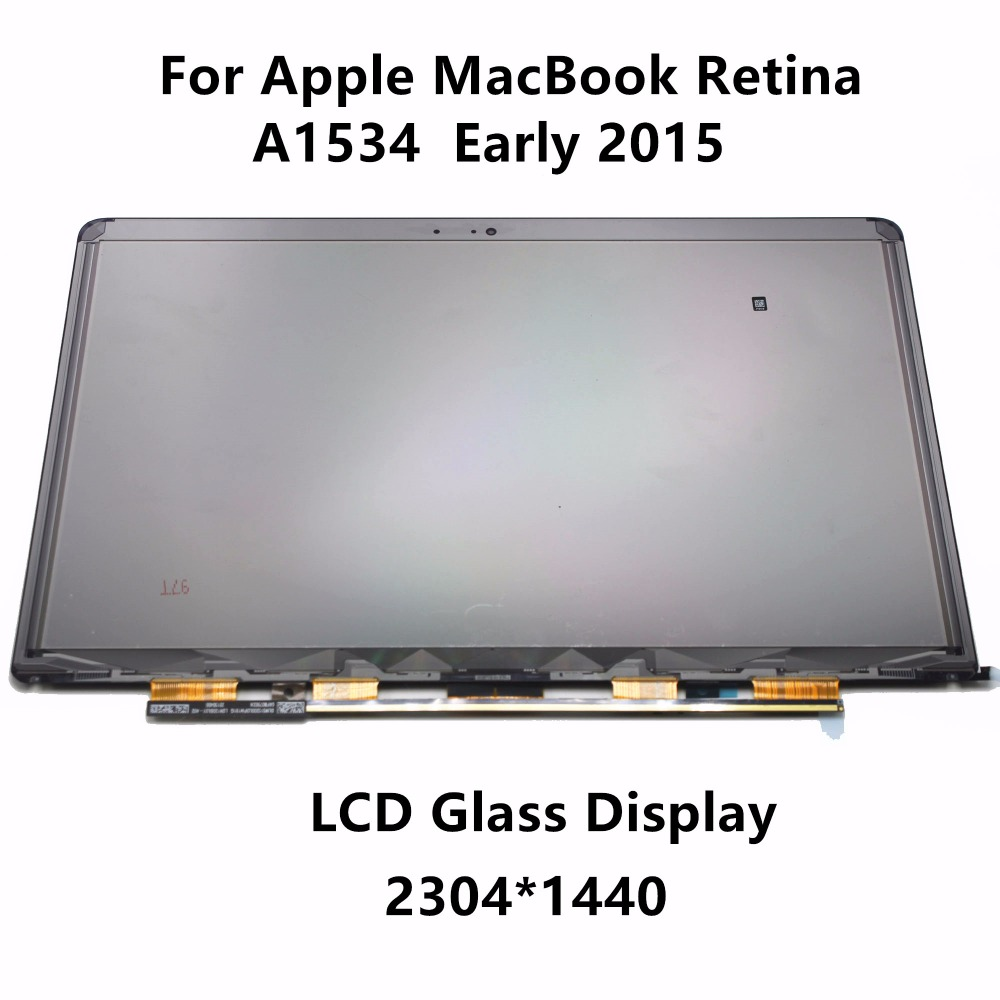 12 LCD Glass Display Screen for Apple Macbook Retina A1534 EMC 2746 Early 2015 MJY32LL/A MJY42LL/A MF855LL/A MF865LL/A MF855D/A 12 0 lcd screen lsn120dl01 for macbook retina a1534 mj4n2ch mf865ch lsn120dl01 lcd screen a1534 glass 2048 1536