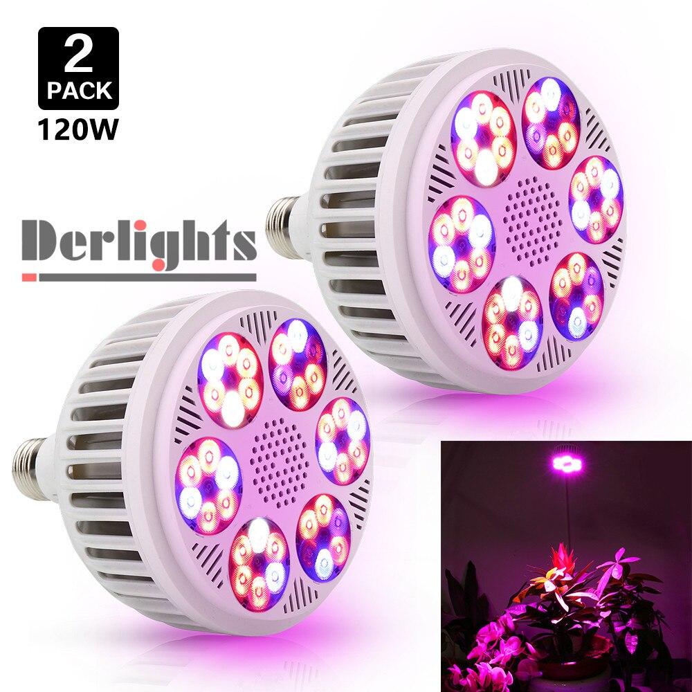 120W Full Spectrum Led Grow Light E27 Led Grow Lamp 36 Leds 85-265V UV+IR  Plant Lamp For Greenhouse Plants Veges Fruits Full