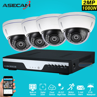 New 2MP HD 4 Channel 1080P Surveillance Camera System Indoor Metal Dome Security Camera Cctv 4ch