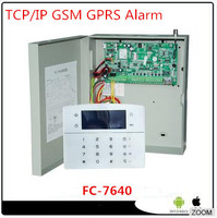 Wired Internet Alarm FC 7640 Industrial Alarm System TCP IP GSM GPRS Alarm System For Home