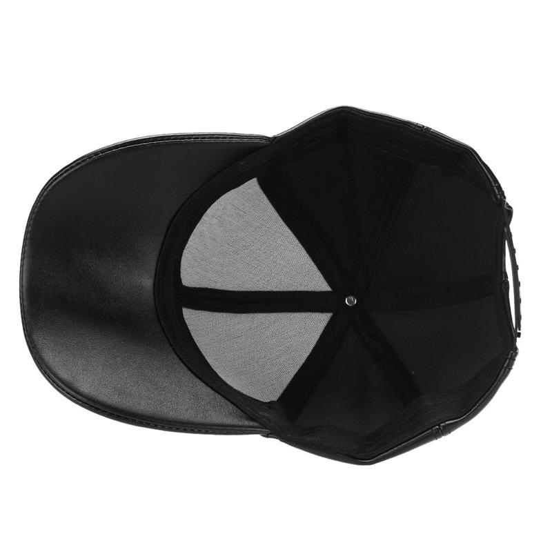 Unisex Mannen Vrouwen PU Lederen Baseballcap Snapback Outdoor Sport - Kledingaccessoires - Foto 4