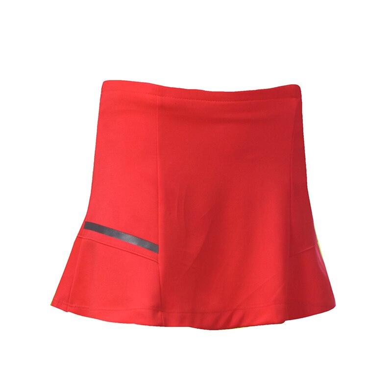 2 в 1 спортивная теннисная Йога шорты для бадминтона фитнес короткая юбка быстросохнущая дышащая Женская Спортивная юбка для тренировок и бега шорты - Цвет: Оранжевый