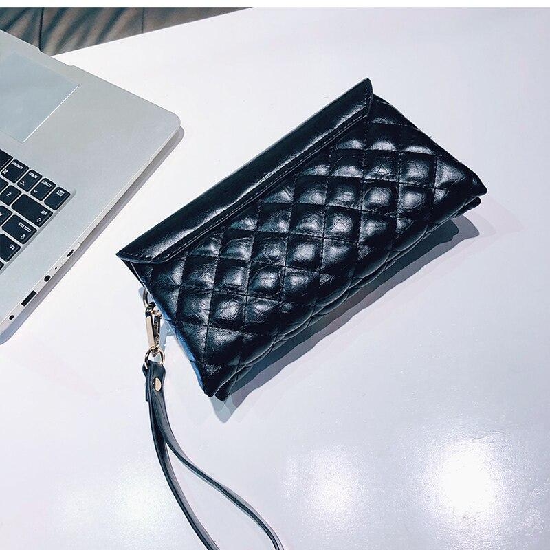 Del Elaborazione Di Lunga Cuoio Lykanefu Borselli Pochette Borse Black A  Sacchetto Dell unità silver Donne ... ca6b9943985