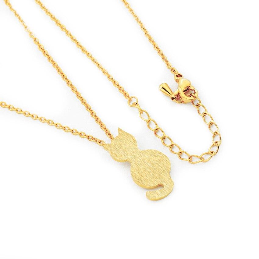 Little Cat Choker Gold Chain Jewelry 5