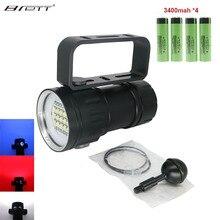 Torcia per Immersione A LED Utilizza 6 XHP70 /90 Lampada Perle di Evidenziare 20000Lumen Fotografia Luce Video Con Blu + Bianco + rosso
