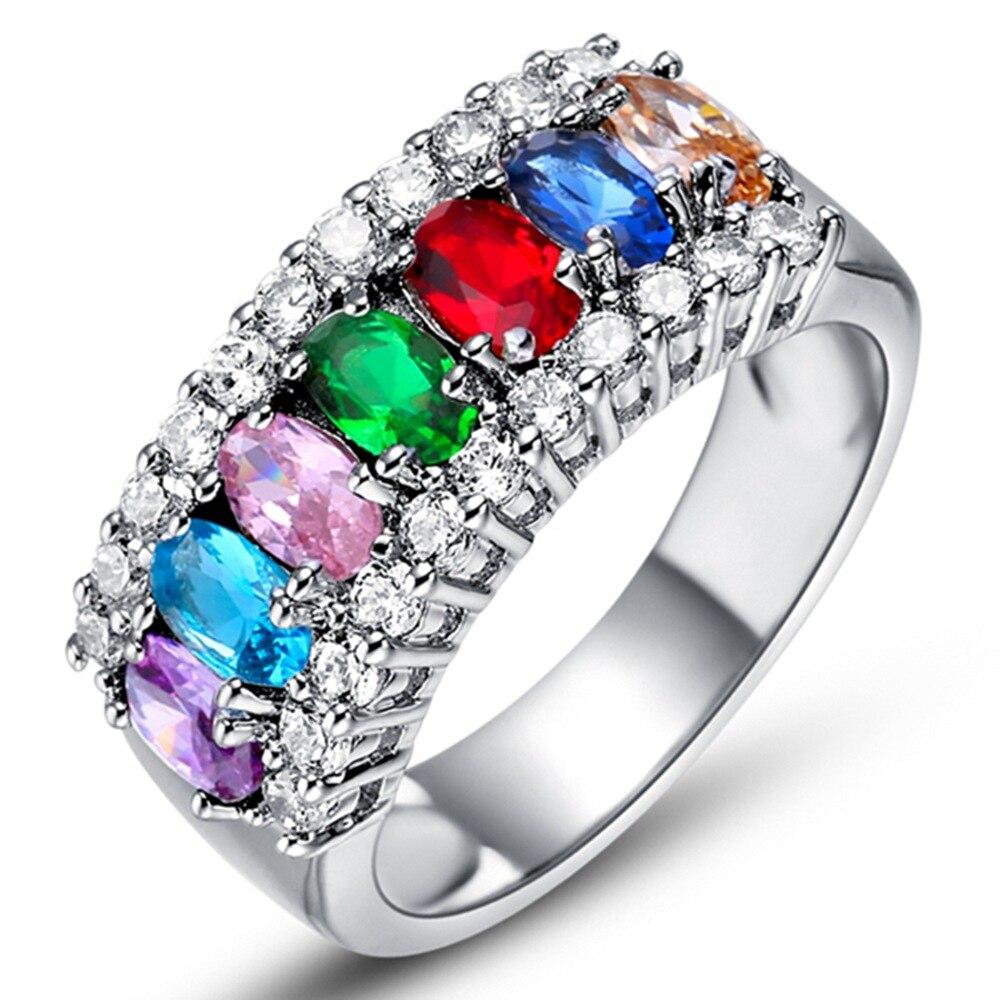 new couple 925 ring vashiria fashion nice plated jewelry 925 romantic imperial crown cz nice wedding - Nice Wedding Rings