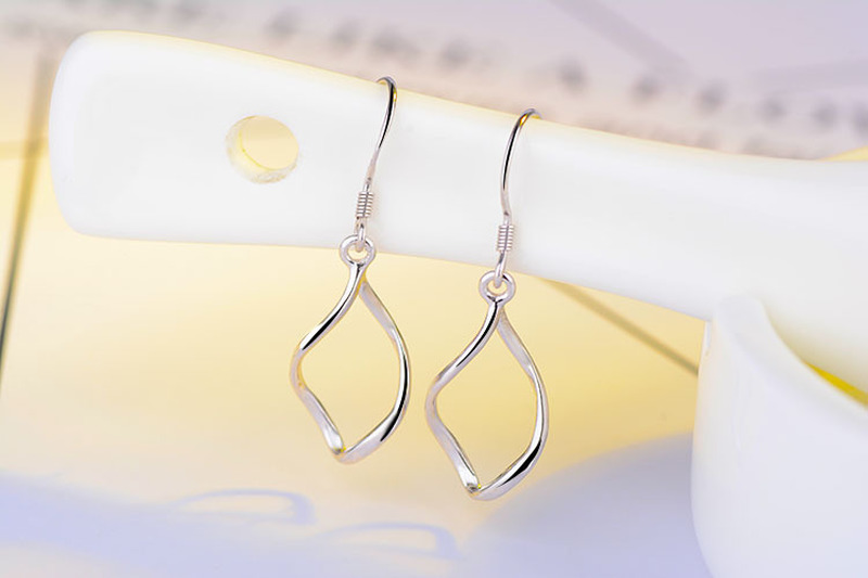 Everoyal Trendy 925 Sterling Silver Earrings For Women Accessories Fashion Lady Girls Drop Earring For Female Jewelry in Drop Earrings from Jewelry Accessories