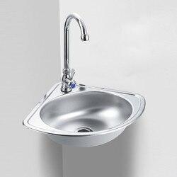 Треугольная раковина из нержавеющей стали, толстая маленькая раковина, угловая настенная раковина для ванной комнаты mx4101030