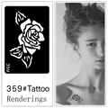 Desechables tatuaje plantilla, desmontable, la creación artística, de moda, de la piel disponibles, tatuajes, Plantas, flores, rosas, 359